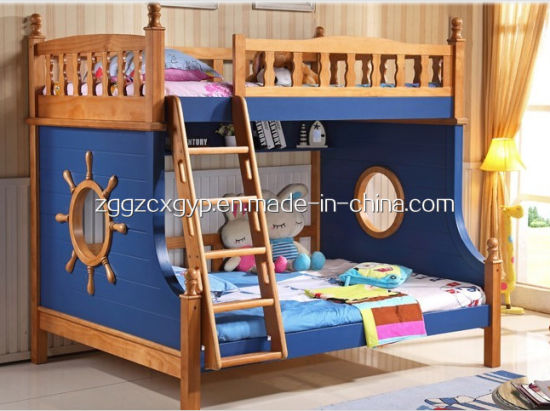 China Solid Wood Bunk Beds With Stairs Double Bed For Children
