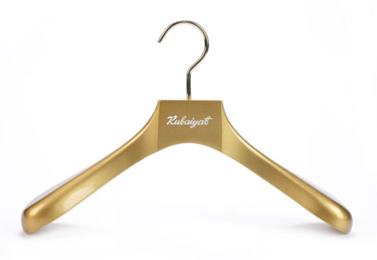 Brand New High Quality Luxurious Designer Gold Wooden Clothing Hangers