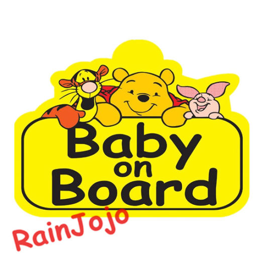 Baby On Board Back Off Car Sign Suction Cup Car Window Sign