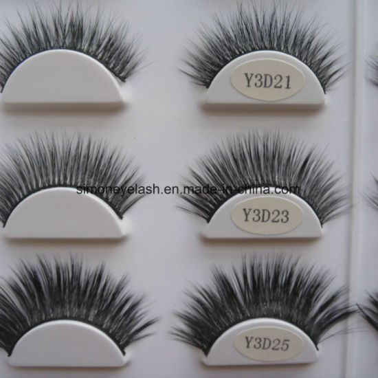Simoneyelash Brand Black Cotton Band False Faux Mink Eyelashes pictures & photos