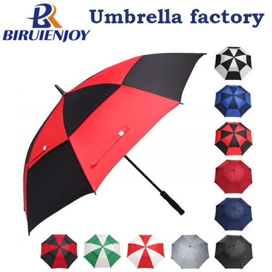 Golf Umbrella 68/62/58 Inch Large Oversize Double Canopy Vented Windproof Waterproof Stick Umbrellas for Men and Women
