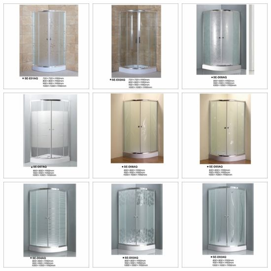 Acid Glass Sliding Door Shower Room for Hotel and Home pictures & photos