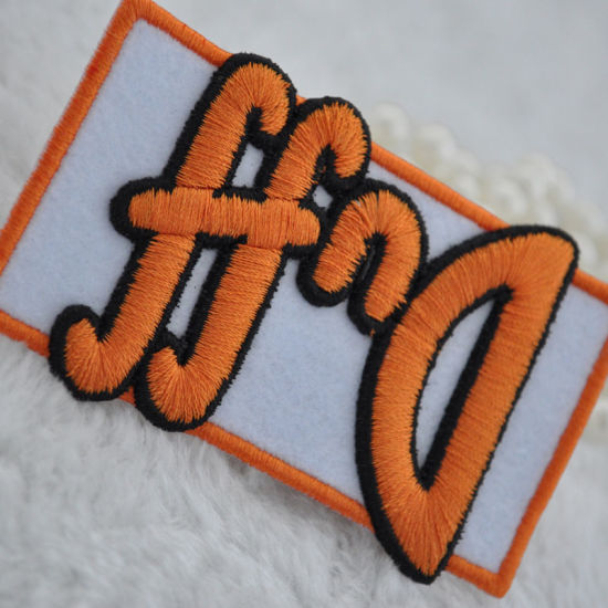 Three-Dimensional Embroidery Patch Label for Garment pictures & photos