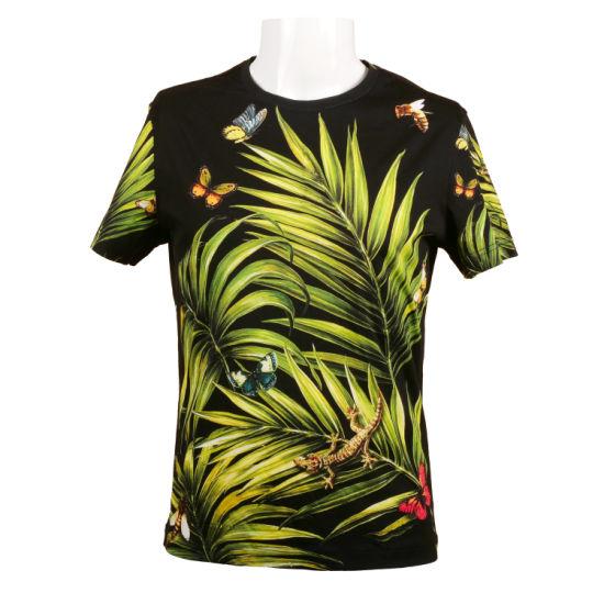Wholesale Printed Hawaiian Men's Short Sleeve Cotton T-Shirt