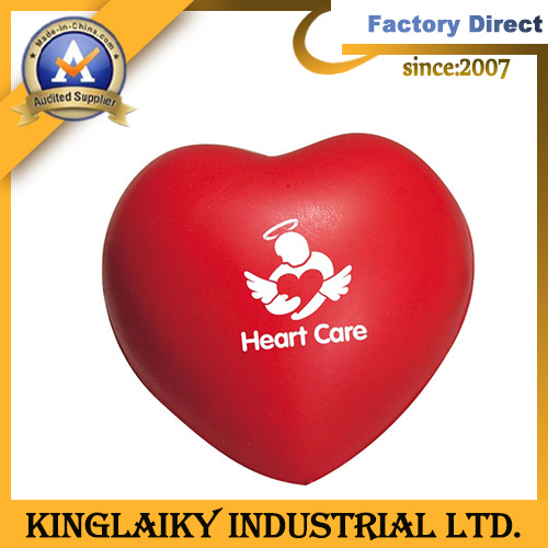 Heart Shape PU Stress Ball for Gift Gadget (PU23148)