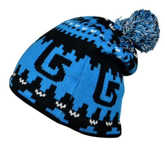 bd910f60e92f Fashion POM POM Acrylic Jacquard Knitting Knitted Hat pictures & photos
