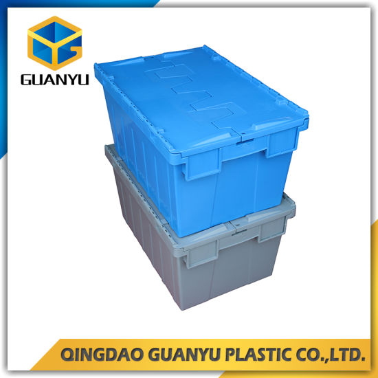 Gray Color Logistic Plastic Containers With Attached Lid