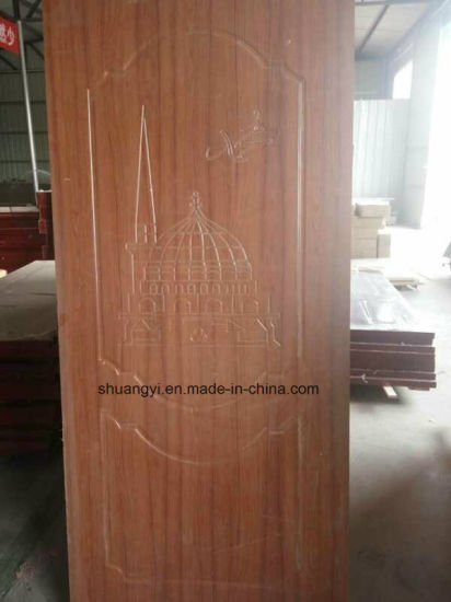Arabic Style PVC Wooden Door for The United Arab Emirates pictures & photos