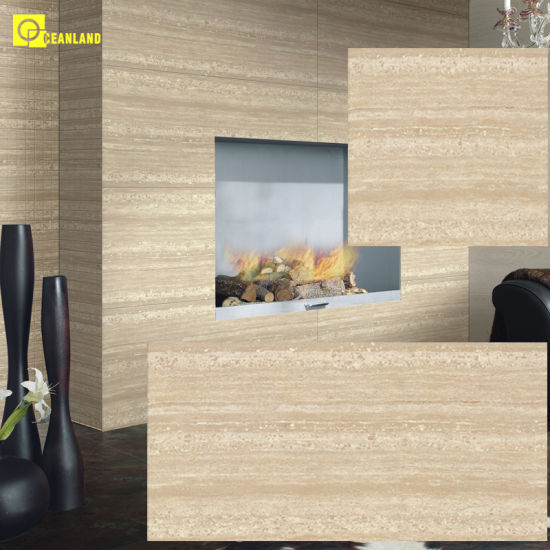 China 1200x600mm Foshan Ivory White Polished Porcelain Living Room