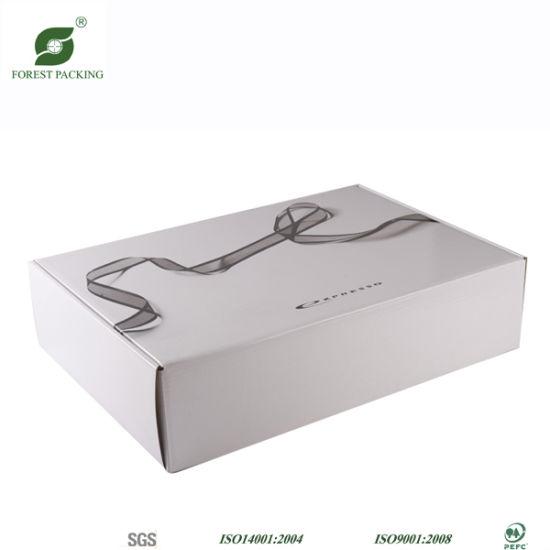China Personalized Elegant Corrugated White Packaging Boxes