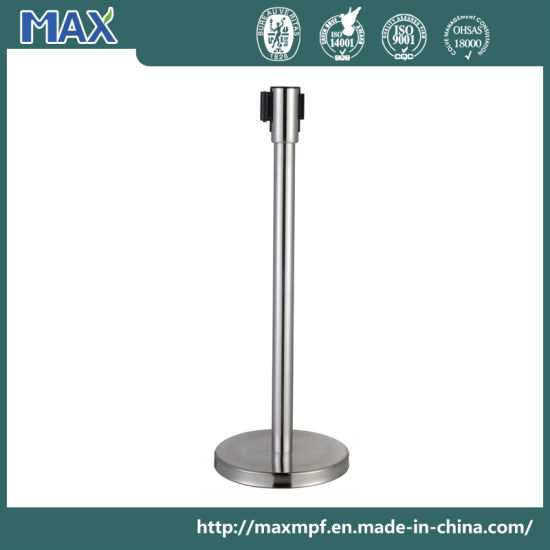 Public Bank Hotel Airport Station Webbing Stanchion for Crowd Control