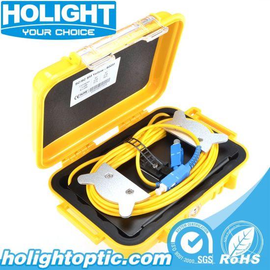 Yellow OTDR Launch Box Aluminum Type