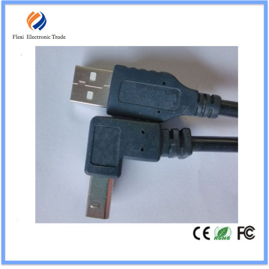 90 Degree 5pin Mini USB Cable Printer Scanner Cable