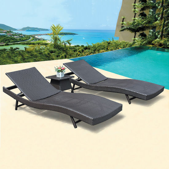 European Style Stainless Steel Aluminum Fabric Lounge Bed for Hotel Swimming Pool