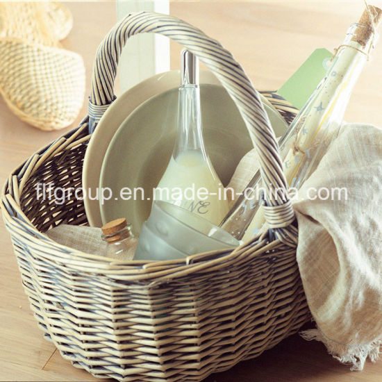 Outdoor Customized Natural Color Wicker Picnic Basket in Food-Safe Quality pictures & photos