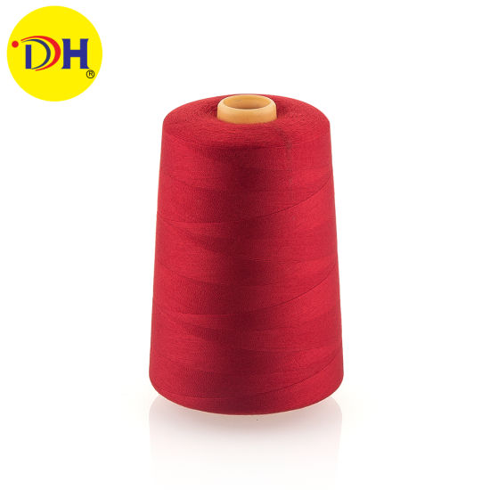 Factory 100% Polyester Sewing Thread Wholesale 40/3 5000m for Garment Accessories No Knots