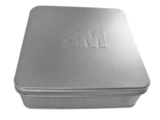 Silver Square Tin Box (A196)