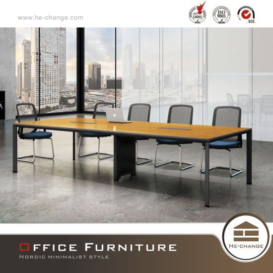 Durable Office Furniture Conference Table Aluminum Legs in Elegant Design (HC-Migge) pictures & photos