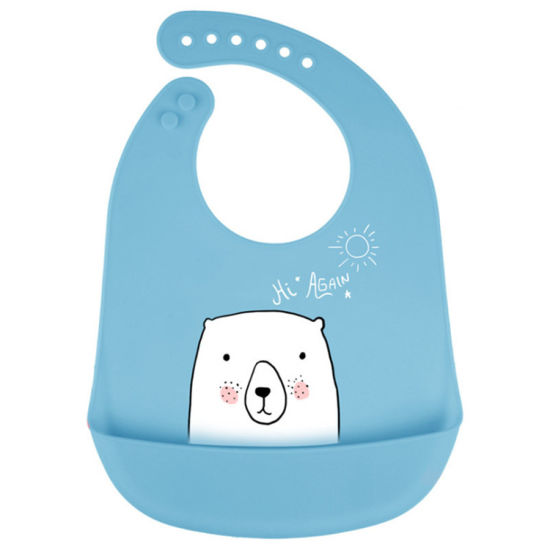 2020 Amazon's Best Sell Reusable Personalized FDA Silicone Feeding Cute Baby Bibs
