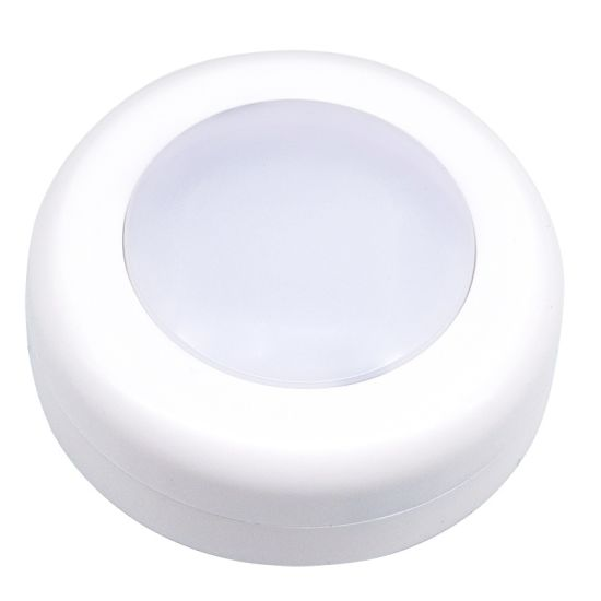 LED Remote Control Cabinet Lamp Small Night Light Round Shape with Battery Supply 0.6W pictures & photos