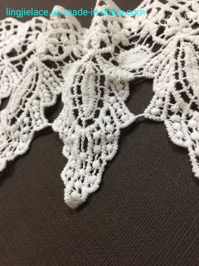 Cotton Chemical Lace Embroidery Lace Trimming for Lady Garment pictures & photos