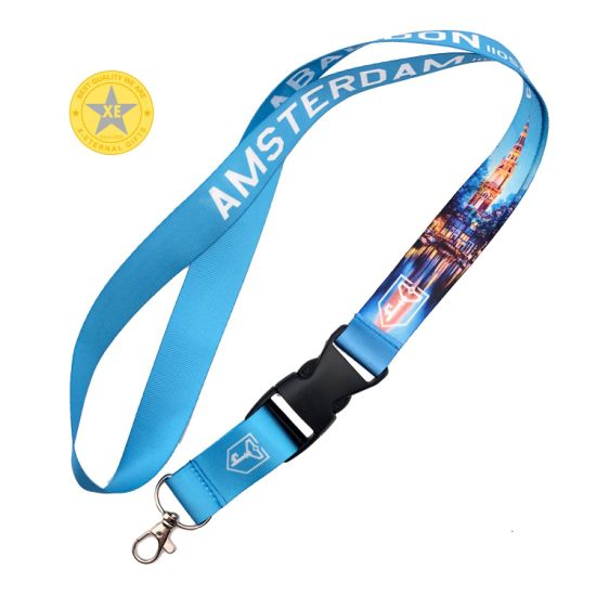 Promotion Gift Customized Sublimation Printed Polyester Lanyard with Safety Buckle pictures & photos
