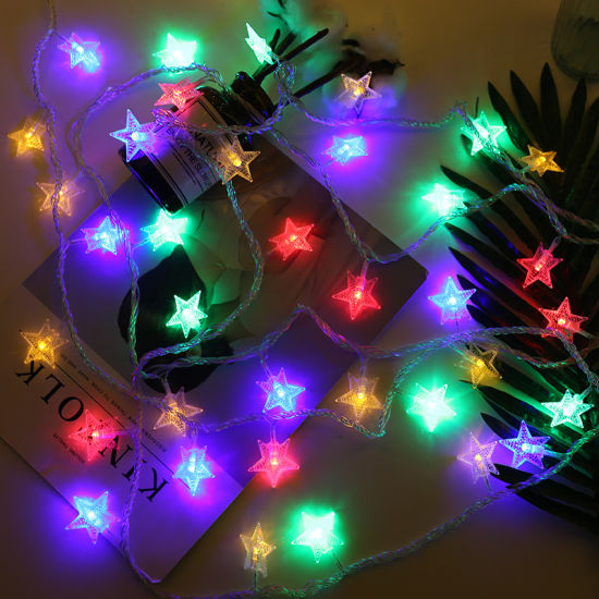 Battery Operated Copper Wire Star Indoor Outdoor Led String Lights