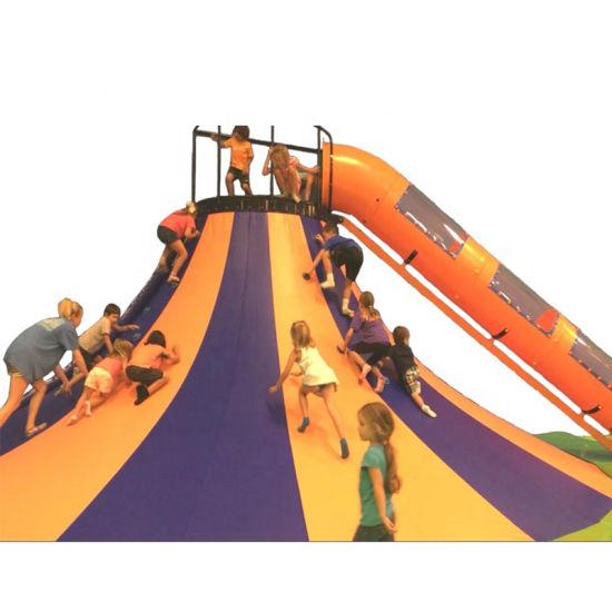 Kids Indoor Amusement Park Toy Volcano Bulusan Climbing Wall Slide