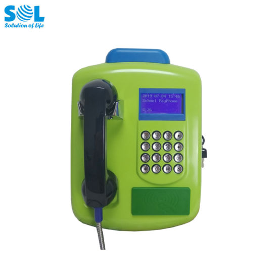 Sol 2020 Hot Selling Outdoor Public RFID Card GSM Payphone