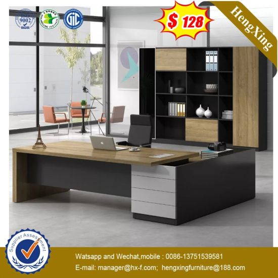 Cherry Color MFC Wooden Executive Table Modern Office Furniture