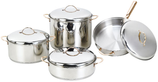 Basic Stainless Steel Cookware Set, 8 Pieces