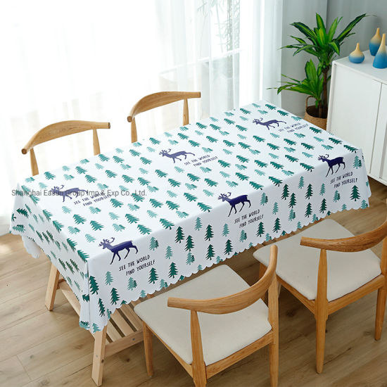 Disposable Hotel Embroidered Tablecloth Roll