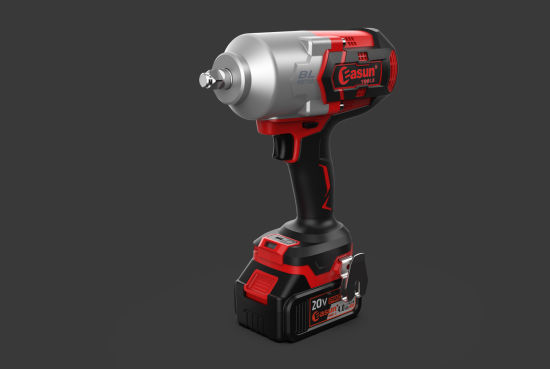 """Easun 20V Industrial Lithium Brushless Impact Wrench 2.0/4.0ah Iwk01bl 1/2"""" Square 1200nm."""