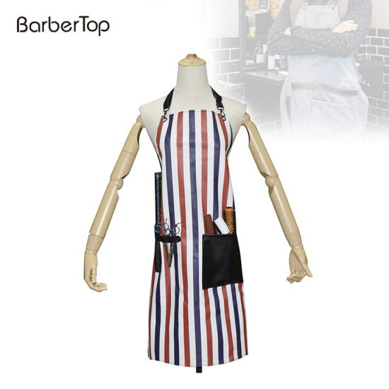 Waterproof Apron Dress Apron with Pocket Hair Cutting Hairstylist Hair Stylist Tool Barber Bib Bartender