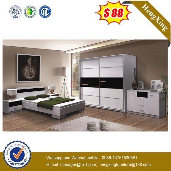 China Royal Furniture King Size Master Luxury Modern White Full Bedroom Set Chinese Furniture Wooden Furniture
