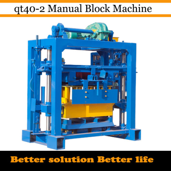 Concrete Hollow Manual Block Machine (QT40-2) pictures & photos