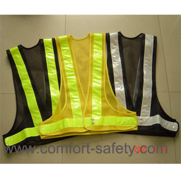 Polyester High Visibility Reflective Safety Vests Clohting with En20471 Ce Standard