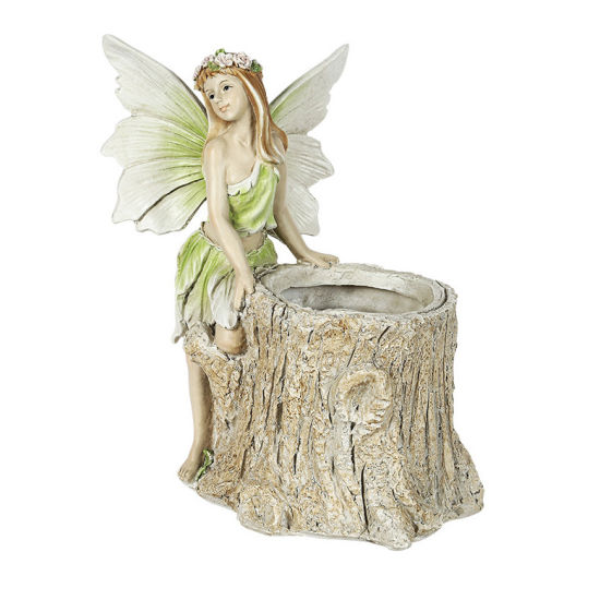 Angel Statue Garden Painted Resin Crafts Retro Lawn Flower Pots for Garden Ornaments