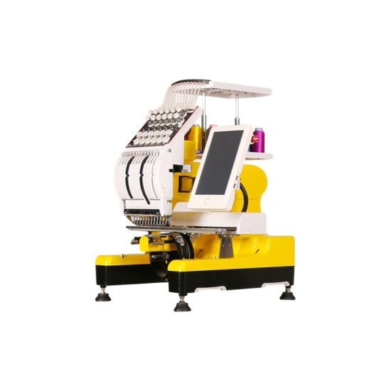 China Newest Good Brother Business One Head Flat Hat 3D Leather Computer Embroidery Machine Price