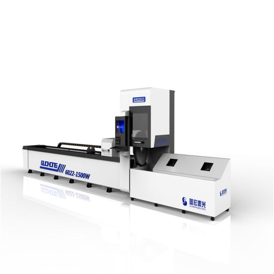 High Precision Three-Chuck CNC Pipe Tube Fiber Laser Cutter for Metal Round Pipe and Square Pipe Cutting