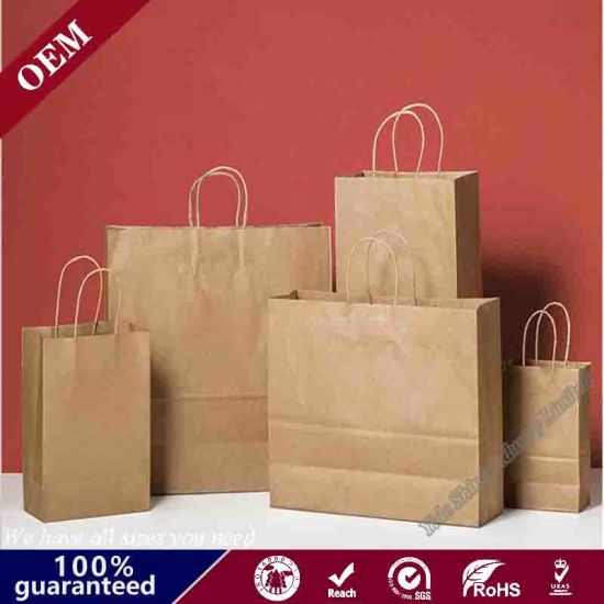 "Kraft Paper Shopping Bag Vogue 16 X 6 X 12 1/2"", Natural Brown Paper Bag"