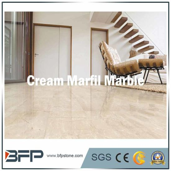 China Cream Marfil Imported Cream Color Marble Floor Tile For Wall