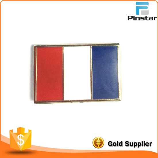 France Custom Metal Flag Lapel Pin
