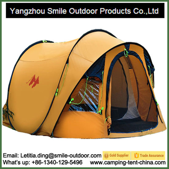 High Quality Outdoor 4 Person Waterproof Pop up Camping Tent
