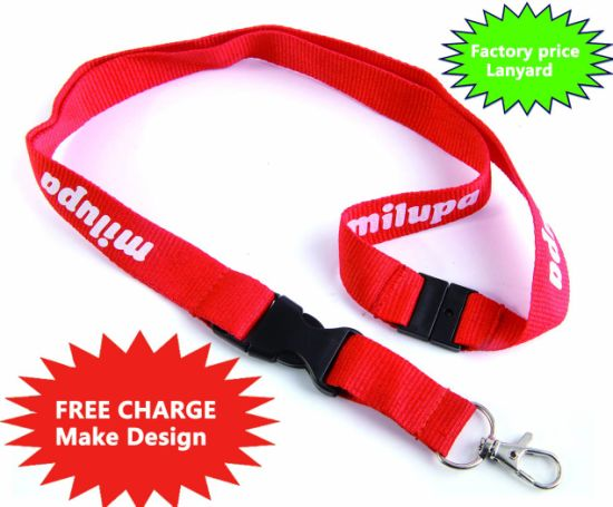 Promotional Dye Sublimation Lanyard with Metal Hook pictures & photos