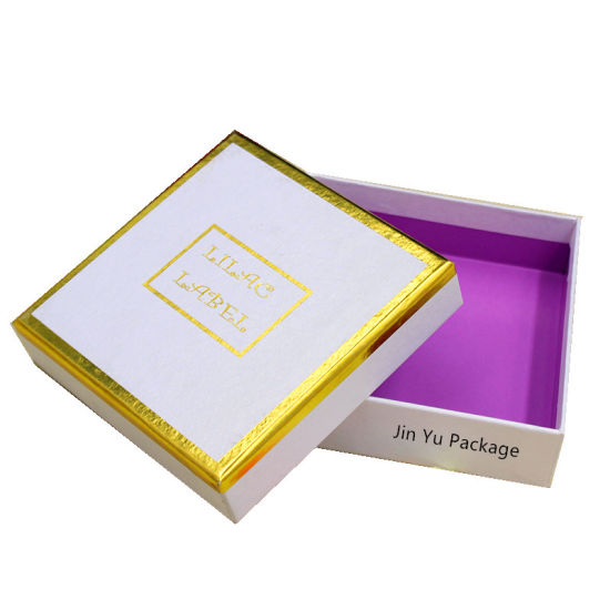 Gold Foil Hot Stamping Cardboard Paper Gift Jewelry Packaging Box pictures & photos