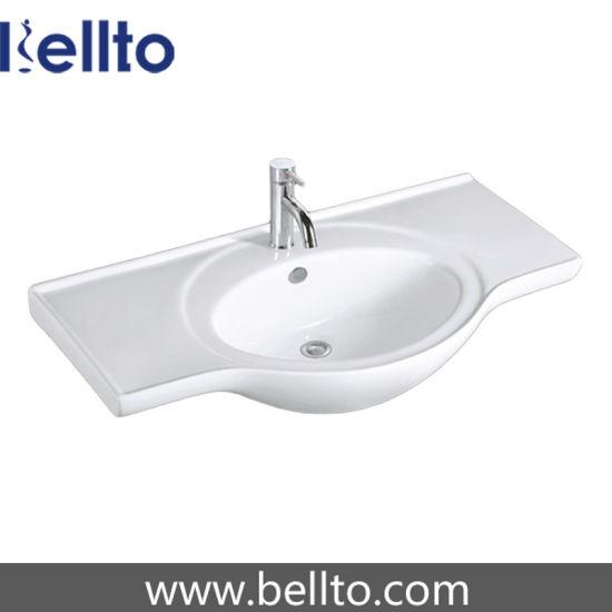 China Ce Certification Cabinet Basin For Slimline Bathroom