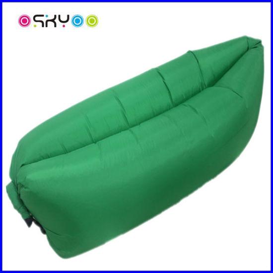 Non Toxic Nylon Materials Kids Hangout Inflatable Sleeping Bag Air Sofa