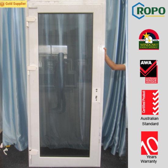 China White Color Upvc Profile Interiorexterior Front Door Designs