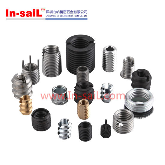 China Black Oxide M6 Threaded Insert Nuts for Light Alloy